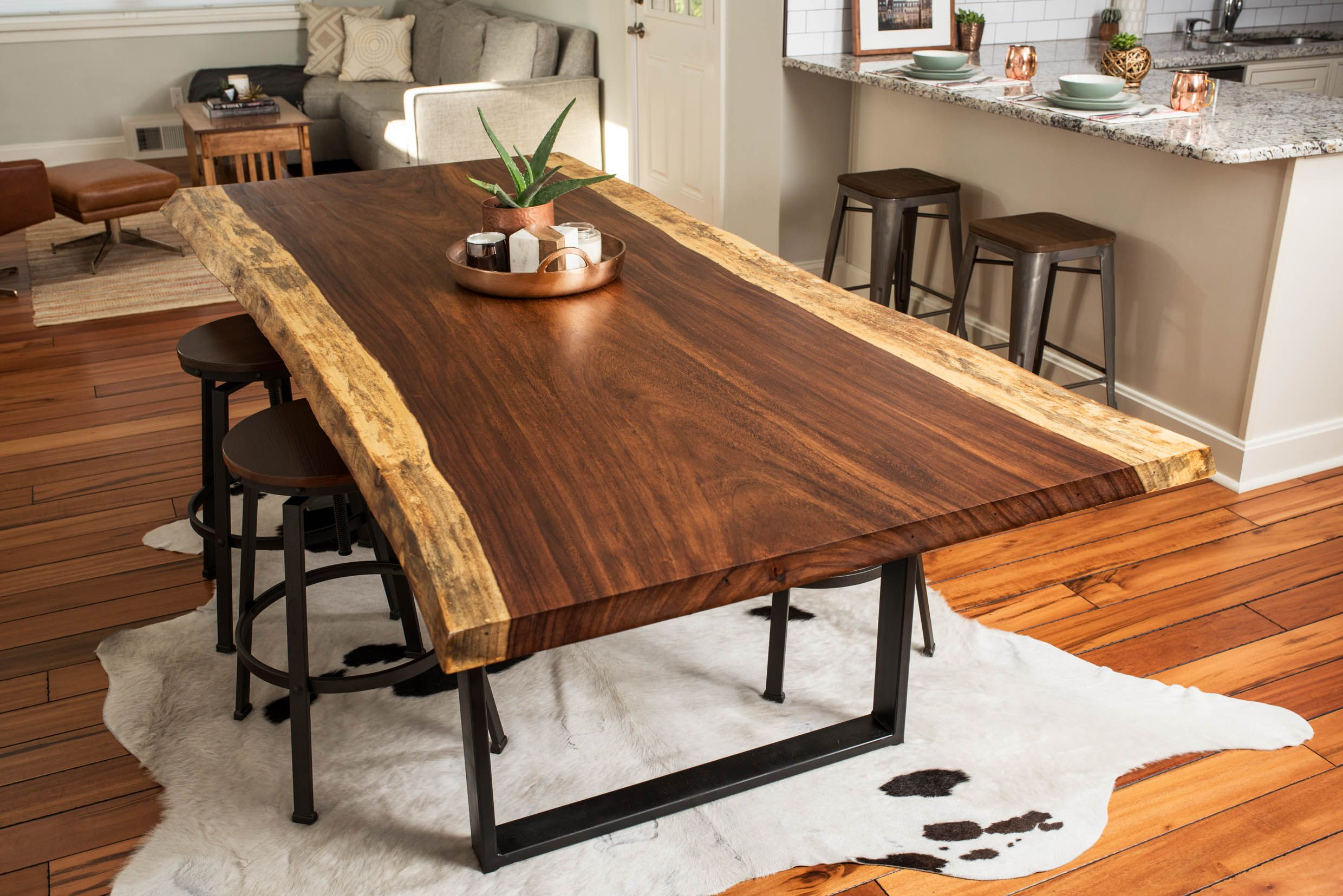 Hand Made Live Edge Acacia Dining/Conference Table by BDC ...