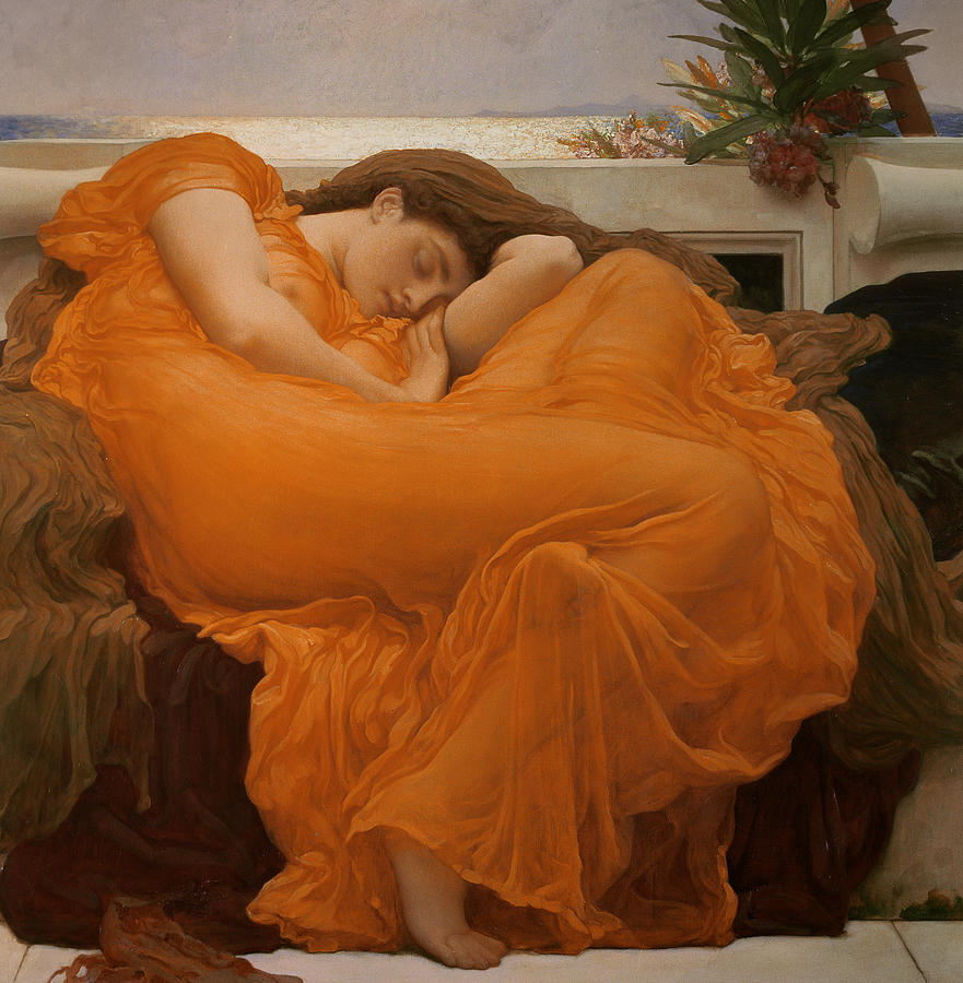 Flaming June Painting by Frederic Leighton