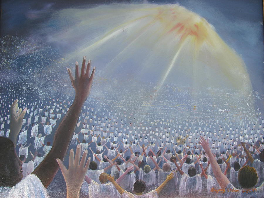 Multitude Of Worshippers Painting by Gregory Staton