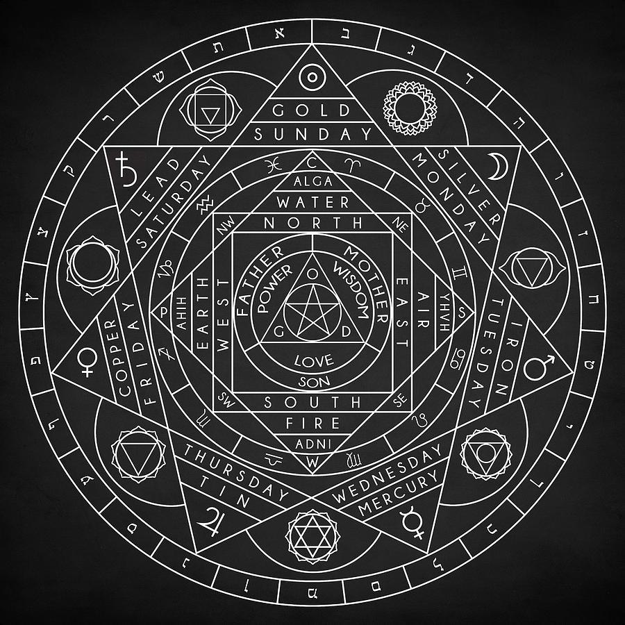Sacred Geometry Digital Art by Zapista OU