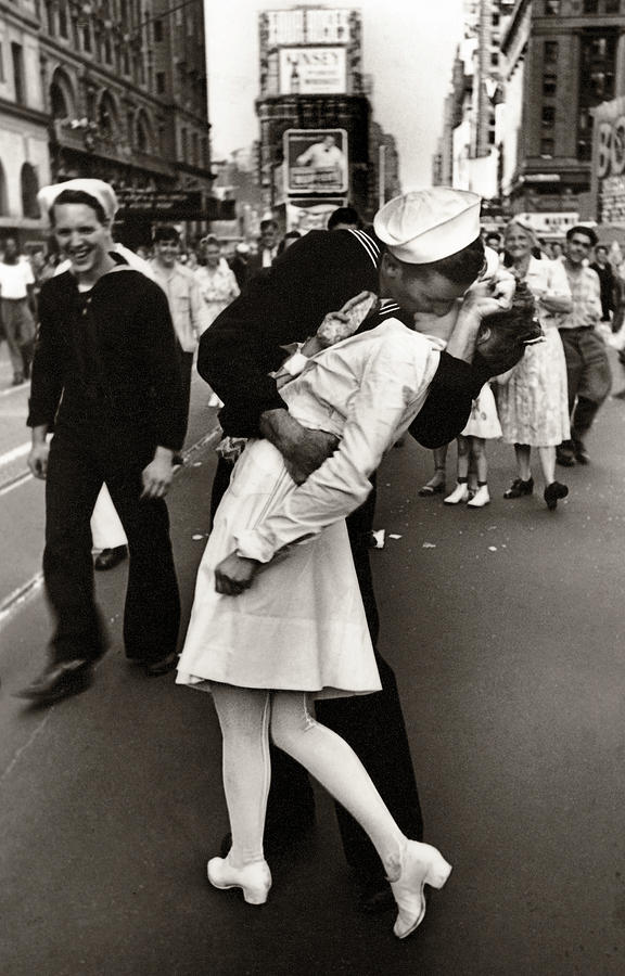 Victory Over Japan Times Square Kiss 1945 Photograph by ...