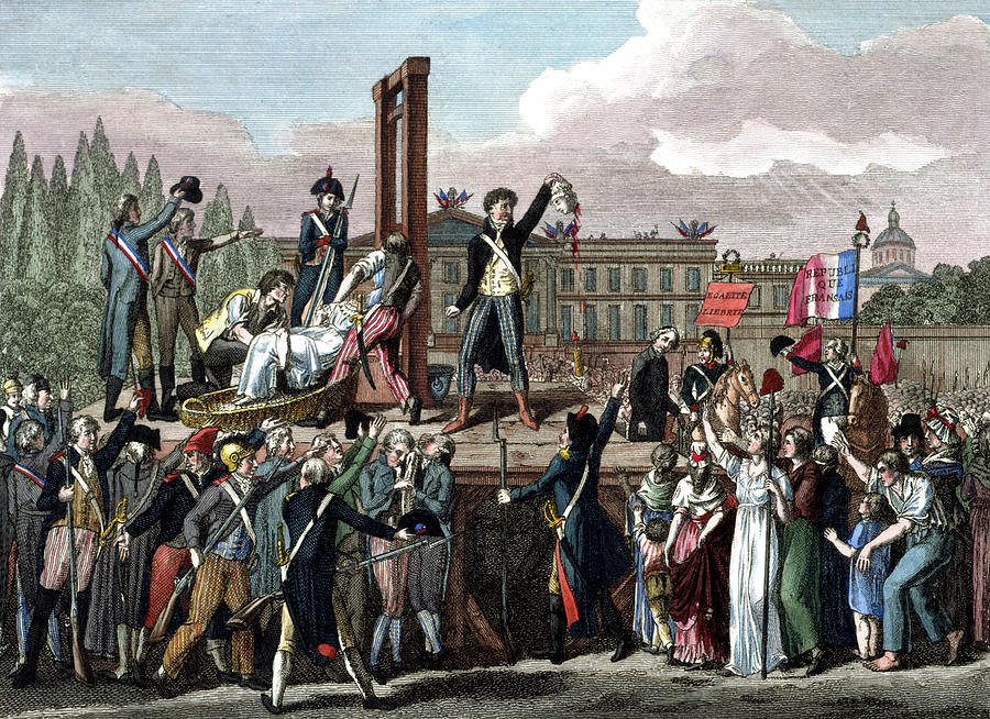 Execution Of Marie Antoinette, 1793 Photograph by Science Source