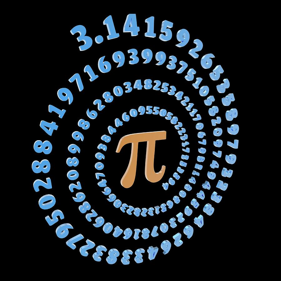Pi Symbol And Number Photograph by Alfred Pasieka