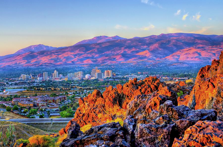 Reno Nevada Sunrise Photograph by Scott McGuire
