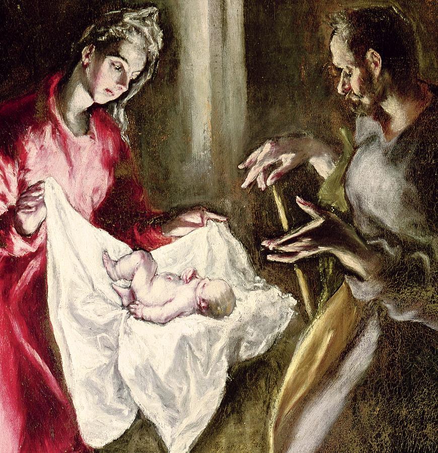 The Nativity Painting by El Greco Domenico Theotocopuli