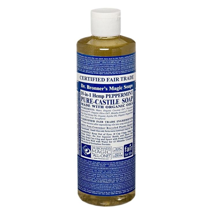 Dr Bronner Peppermint Liquid Castile Soap Peppermint ...