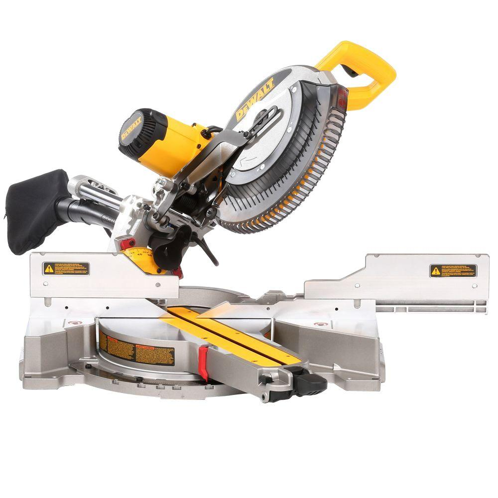 DEWALT 15 Amp Corded 12 in. Double Bevel Sliding Compound Miter Saw with XPS technology, Blade ...