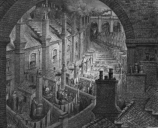 Life in 19th-century slums: Victorian London's homes from ...