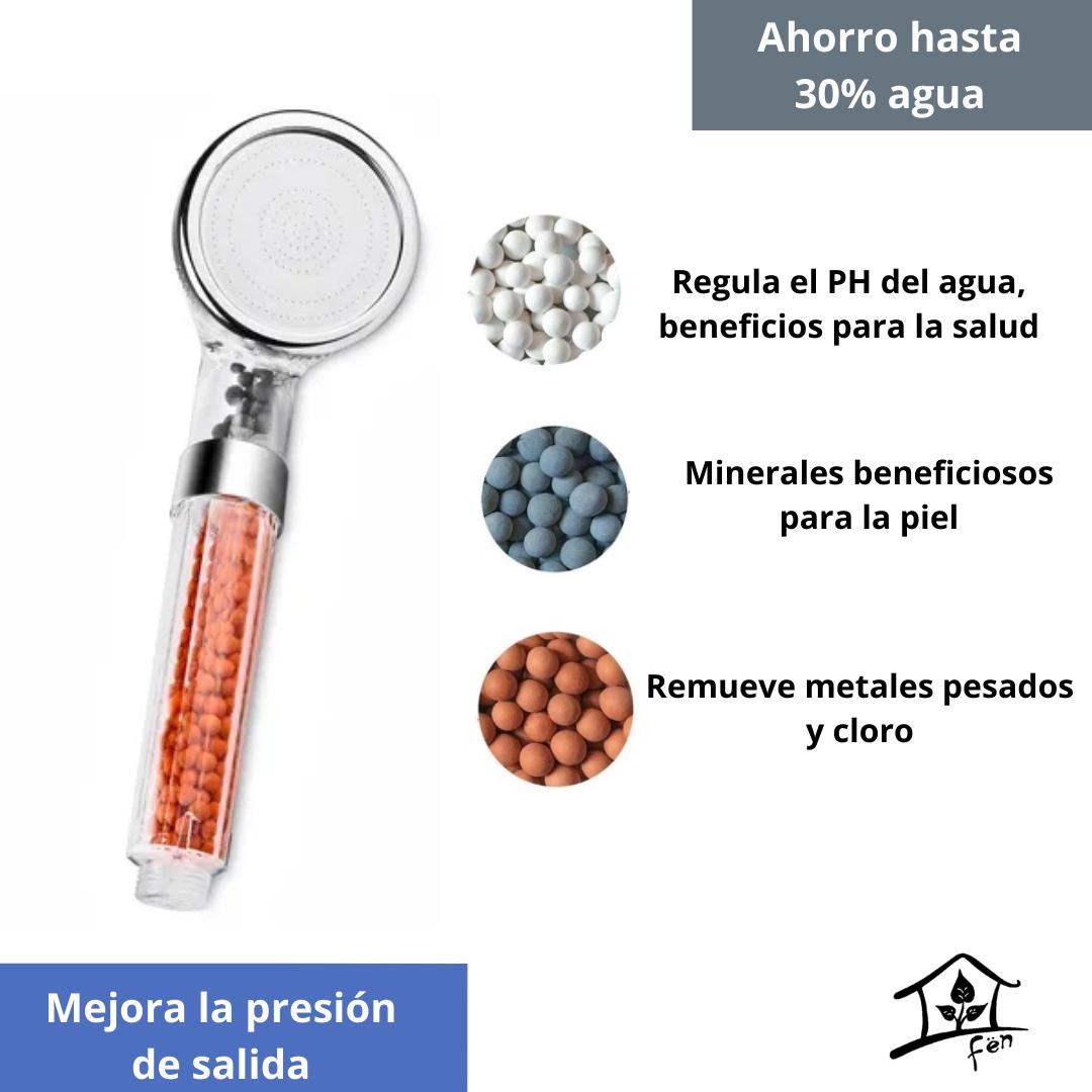 Eco ducha con filtro mineral (iónico)