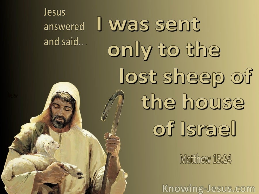 Matthew 15:24 The Lost Sheep Of The House Of Israel (gold)