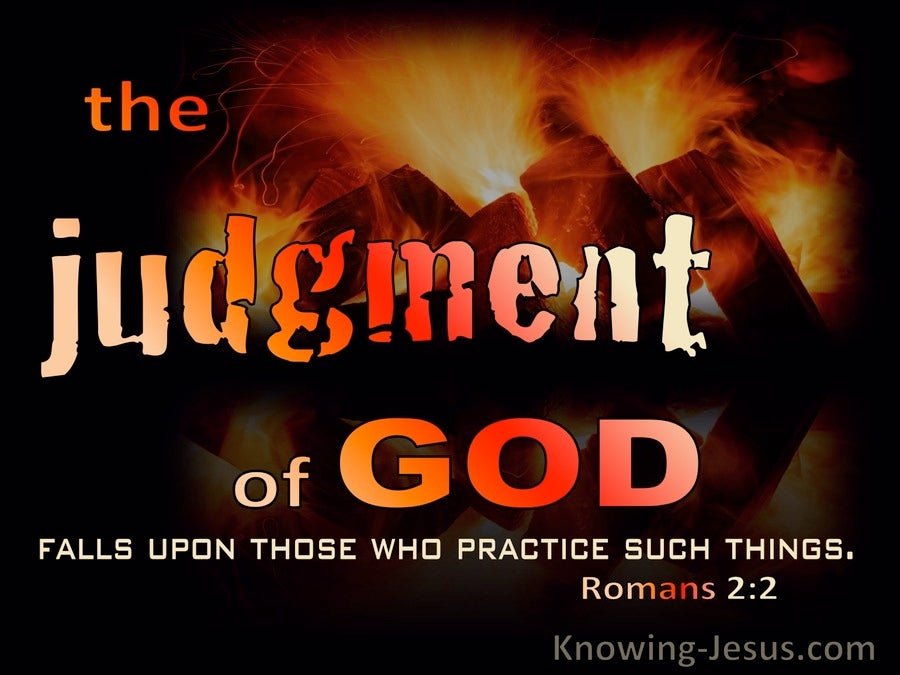 Romans 2:2 The Judgment Of God (yellow)
