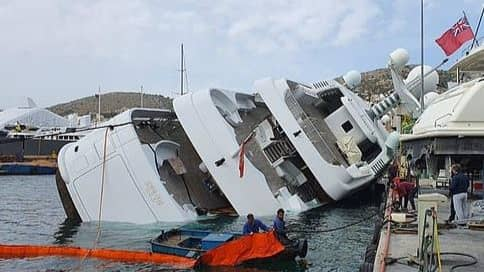 Saudi Prince's $78 Million Superyacht Capsizes in Greece…