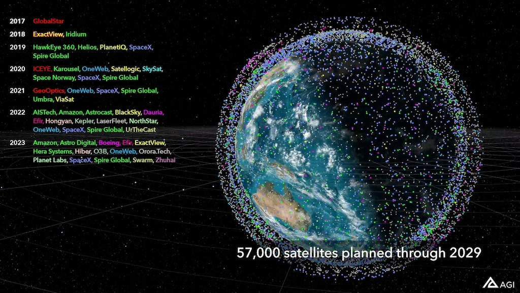 Watch 57,000 planned satellites swarm Earth within 9 years ...