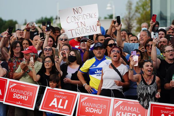 Antivaccination, mask protests force Trudeau to cancel ...