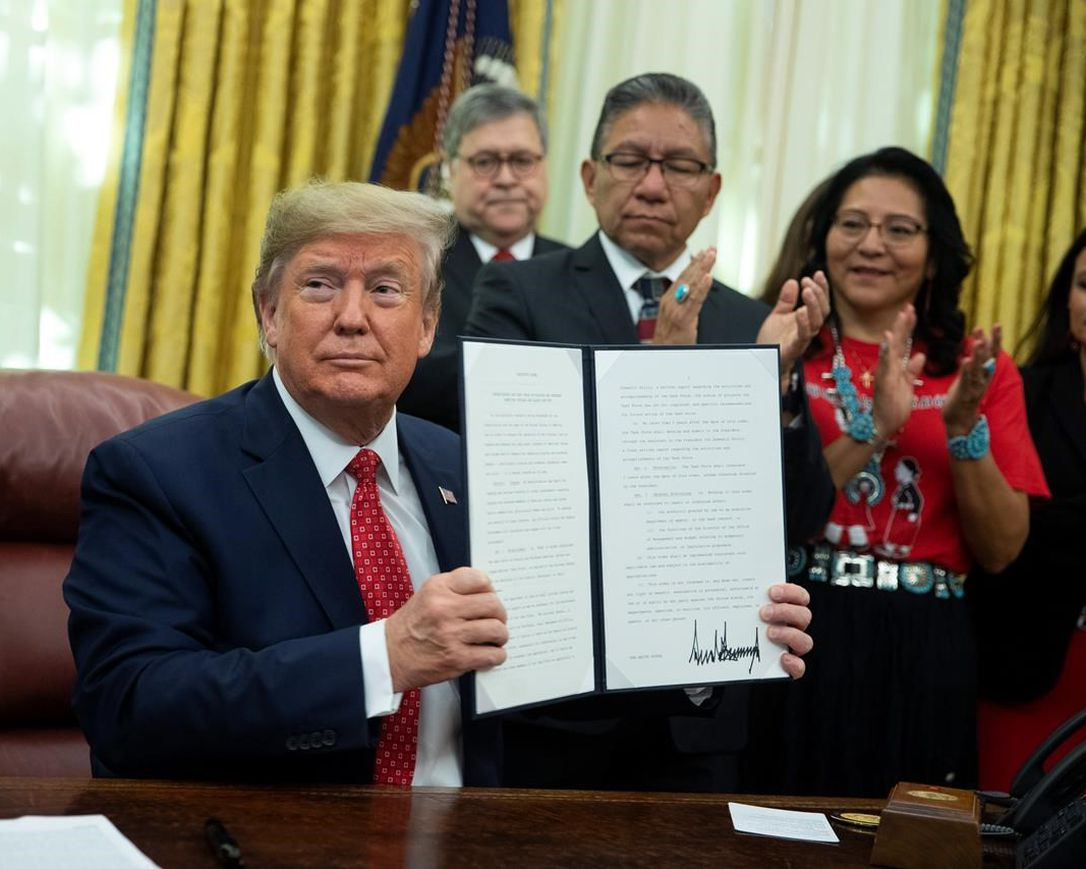 Trump Native Americans: President signs executive order for task force on missing, murdered Native Americans…