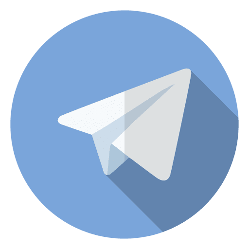 Telegram icon logo - Transparent PNG & SVG vector