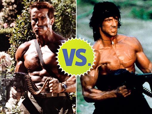 Arnold Schwarzenegger vs. Sylvester Stallone | EW.com