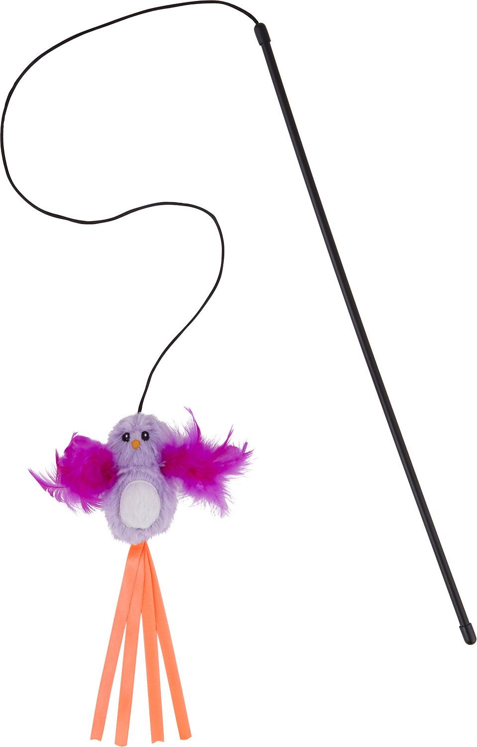 FRISCO Bird Teaser with Feathers Cat Toy, Purple - Chewy.com