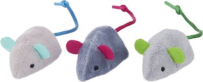 FRISCO Basic Plush Mice Cat Toy with Catnip, 3 count ...