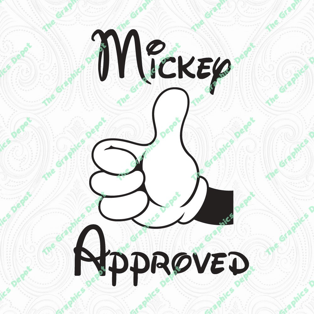 Mickey Mouse Mickey Approved Thumbs Up svg dxf pdf eps