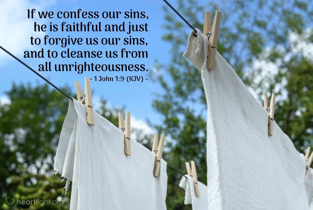 1 John 1:9 (KJV) — Today's Verse for Sunday, November 2, 2003