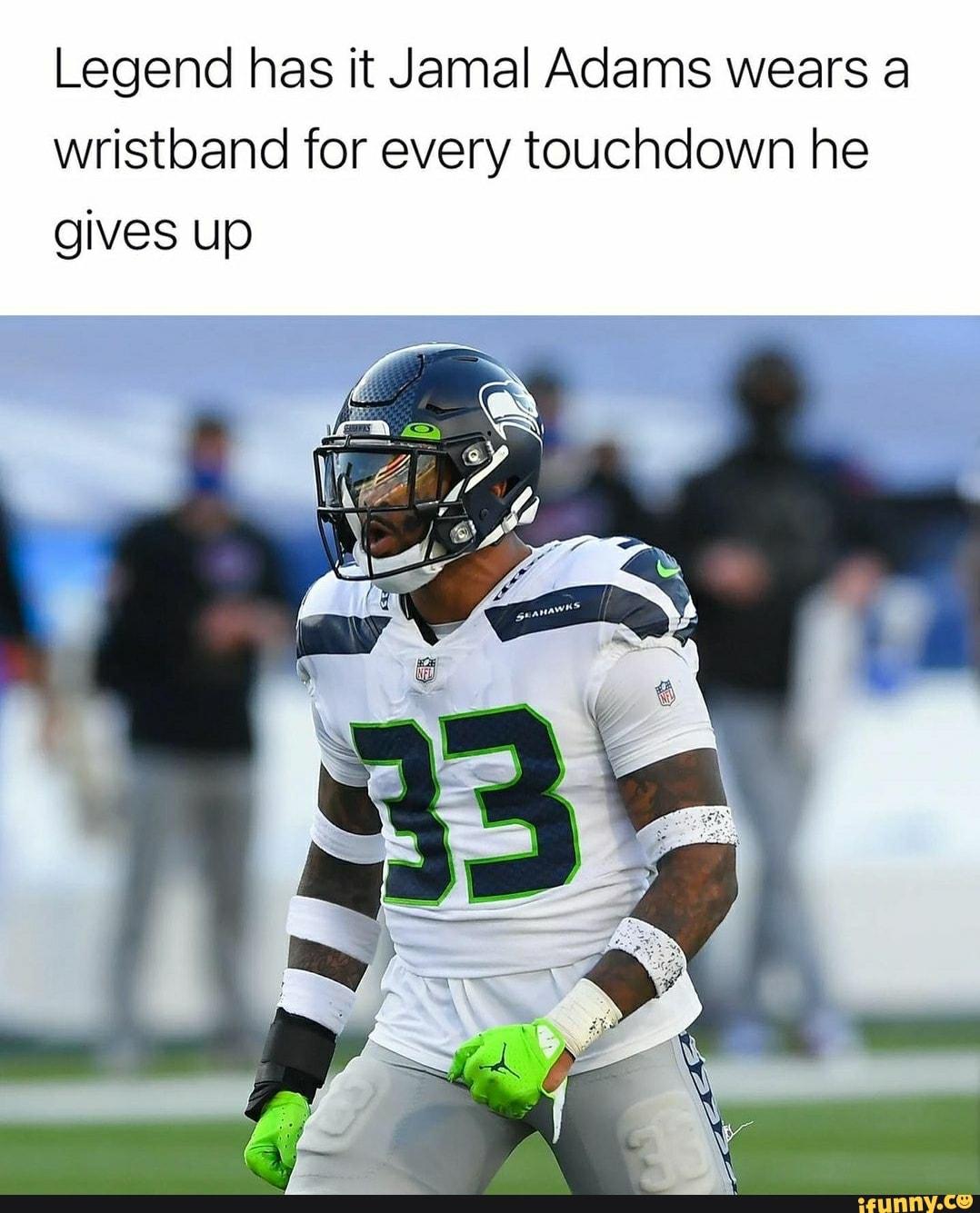 Legend has it Jamal Adams wears a wristband for every ...