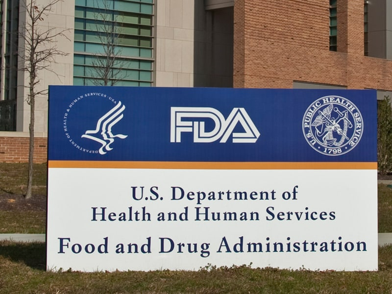 FDA sign in front of building