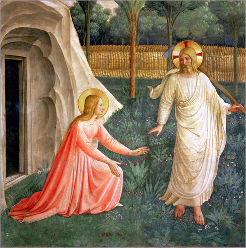 Fra Angelico Noli Me Tangere, 1442 Poster | Posterlounge