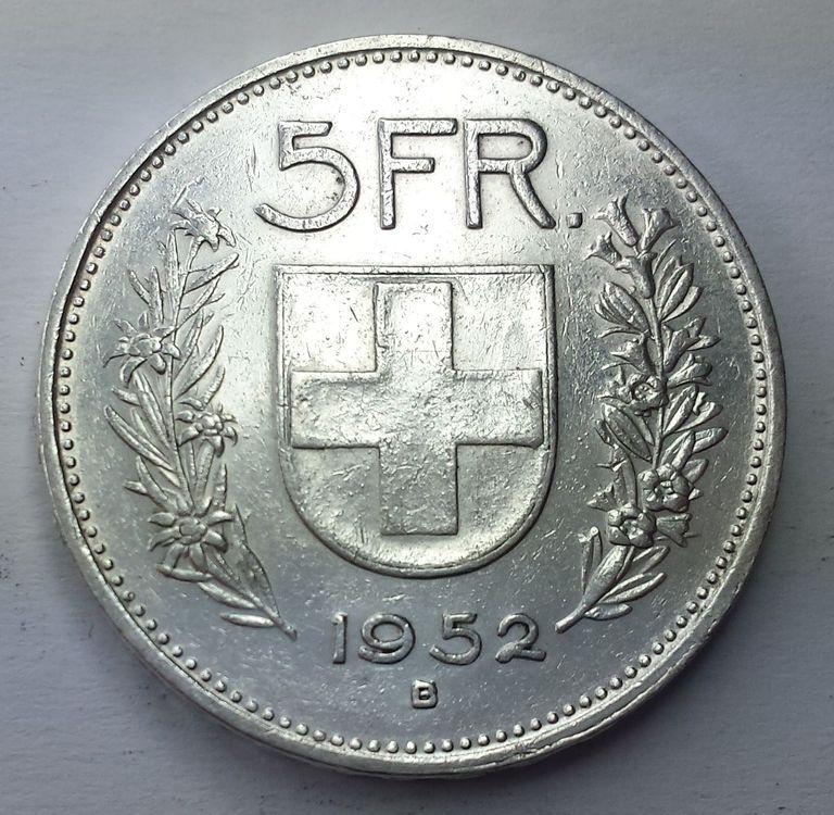 5 Franken Münze 1952 (S603) kaufen auf Ricardo