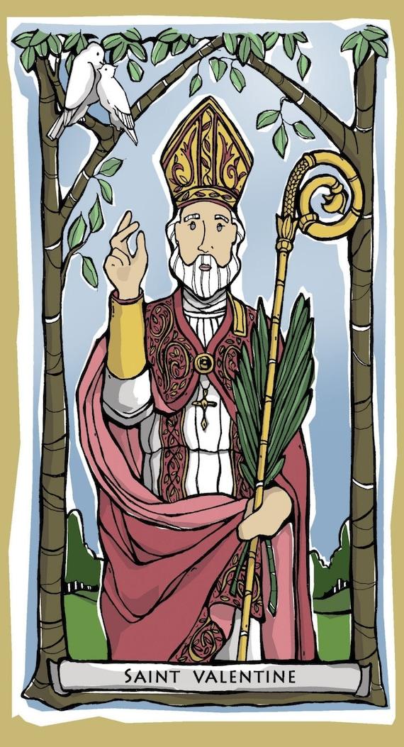 St. Valentine Prayer Card