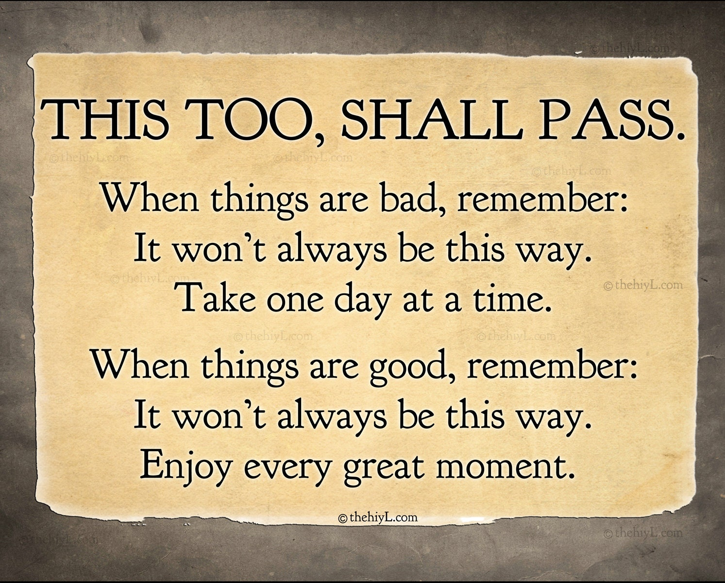 This too Shall Pass postcard print