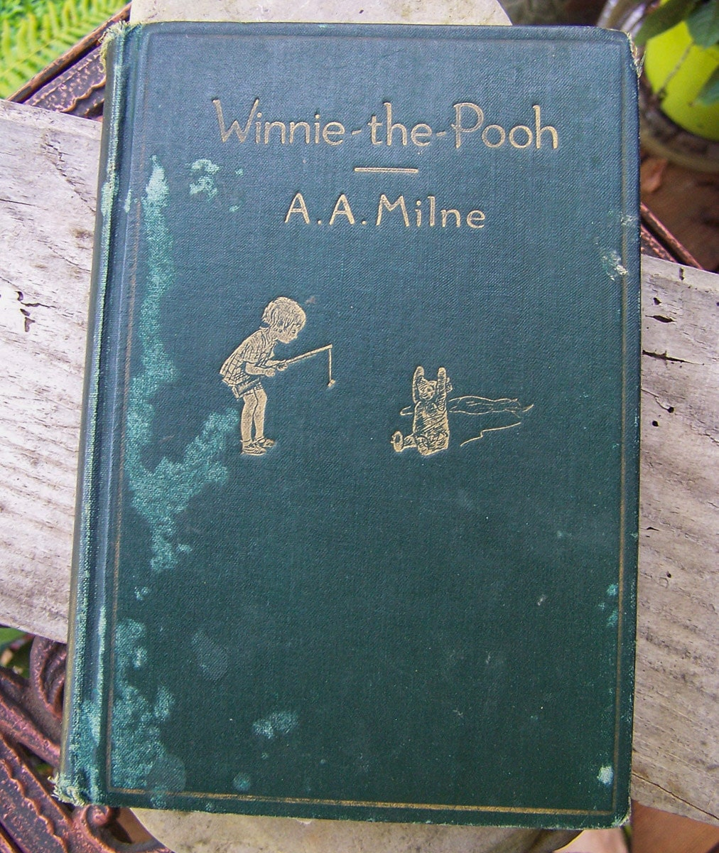 SALE 50% Off Winnie the Pooh First Edition Vintage Book