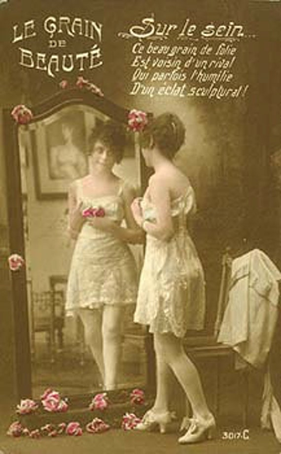 Vintage Victorian and Edwardian risque erotic nudes postcards