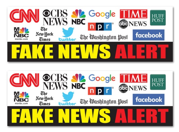 Fake News Alert CNN MSNBC NPR Facebook Google 9x3