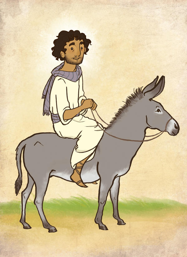 Yeshua Riding Donkey