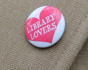 Library buttons | Etsy