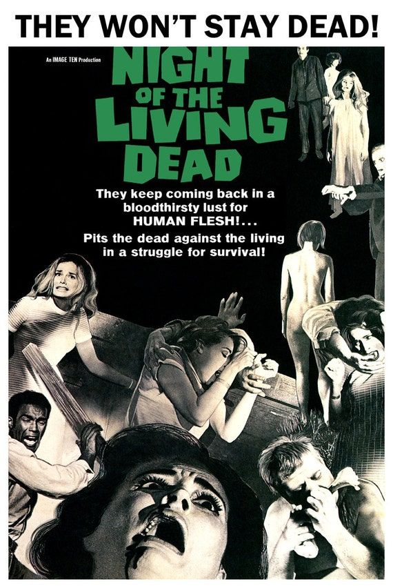 Night of the Living Dead Film Poster Bloodthirsty for Human