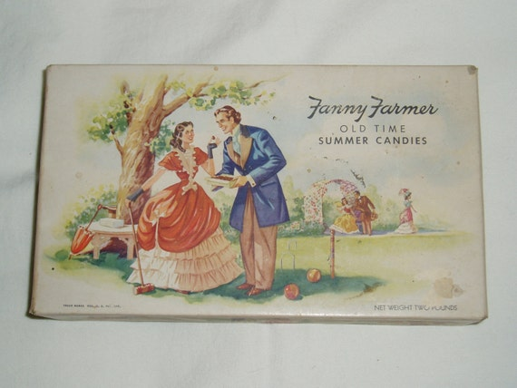 Items similar to Fanny Farmer Candy Box, Victorian Couple, Excellent Condition on Etsy