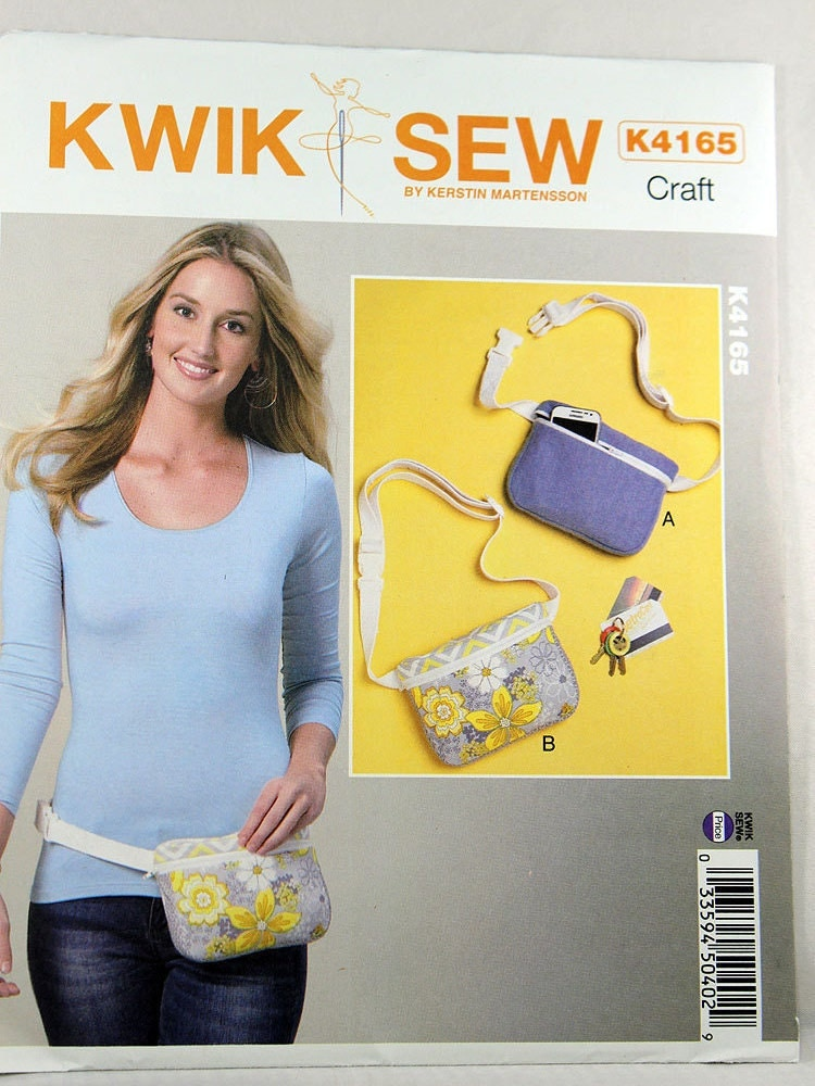 Kwik Sew 4165 Misses' Belly Bags Sewing Pattern Sewing