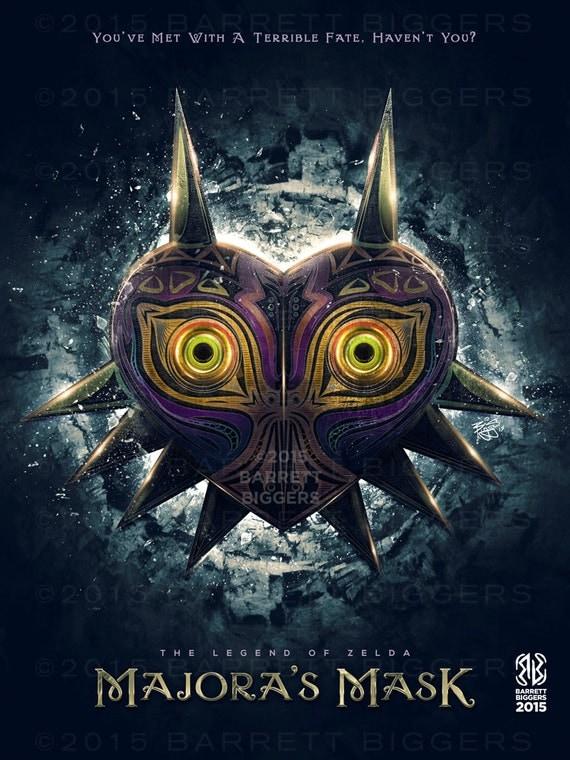 Legend of Zelda Majora's Mask Epic Game Poster - signed museum quality ...