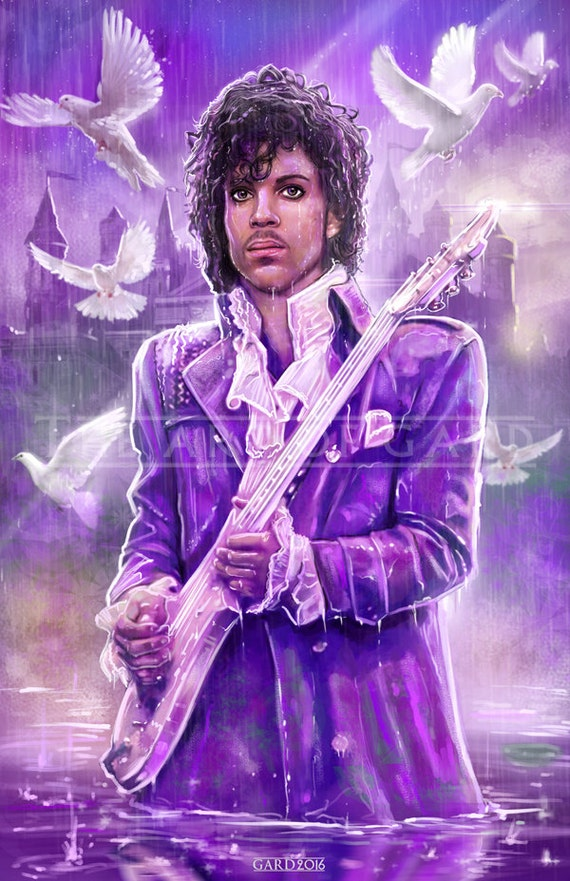 Prince Tribute Purple Reign 11X17 print