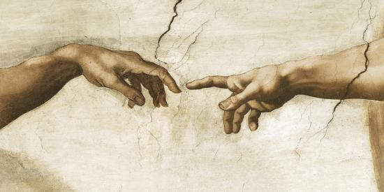 Creation of Adam, 1512 - Detail Giclee Print by ...