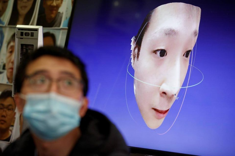 "China firm develops system to recognize faces behind coronavirus masks. ""If connected to a temperature sensor, it can measure body temperature while identifying the person's name, and then the system would process the result, say, if it detects a temperature over 38 degrees.""…"