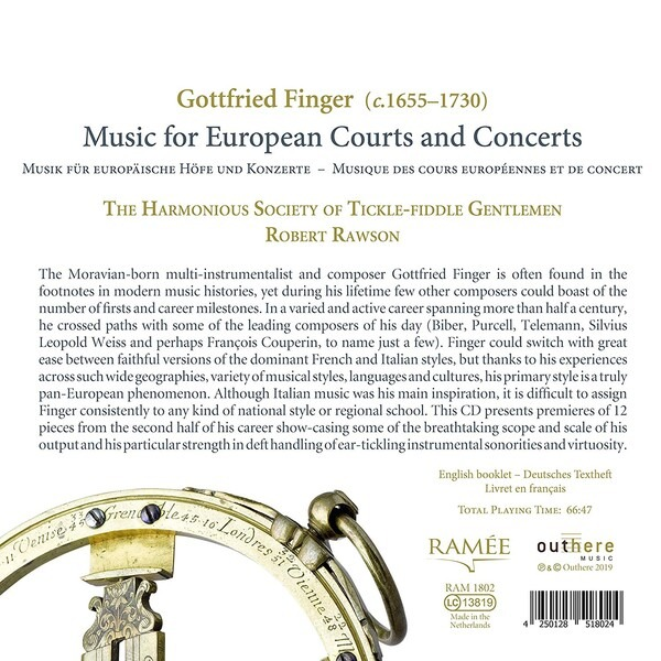Gottfried Finger: Music For European Courts And Concerts ...