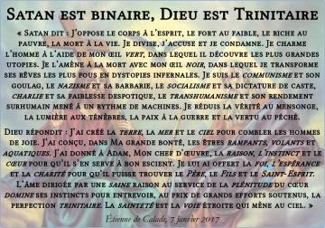 Satan est binaire, Dieu est trinitaire | La contre-révolution