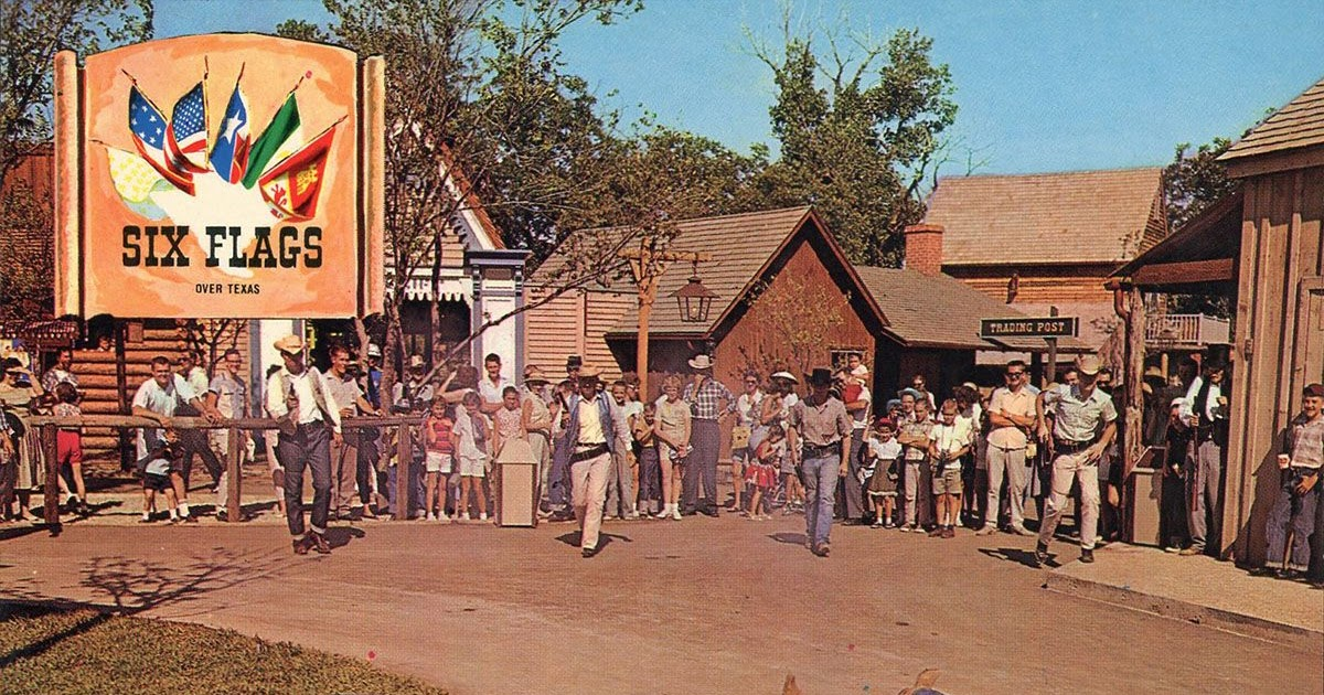GORILLAS DON'T BLOG: Vintage Postcards: Six Flags Over ...