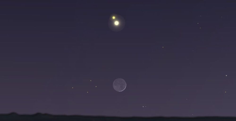 Jupiter and Saturn swing by the moon this week ahead of a ...