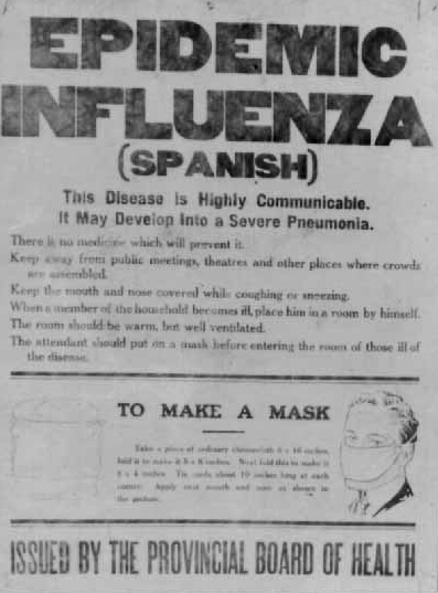 Spanish Flu outbreak 1918