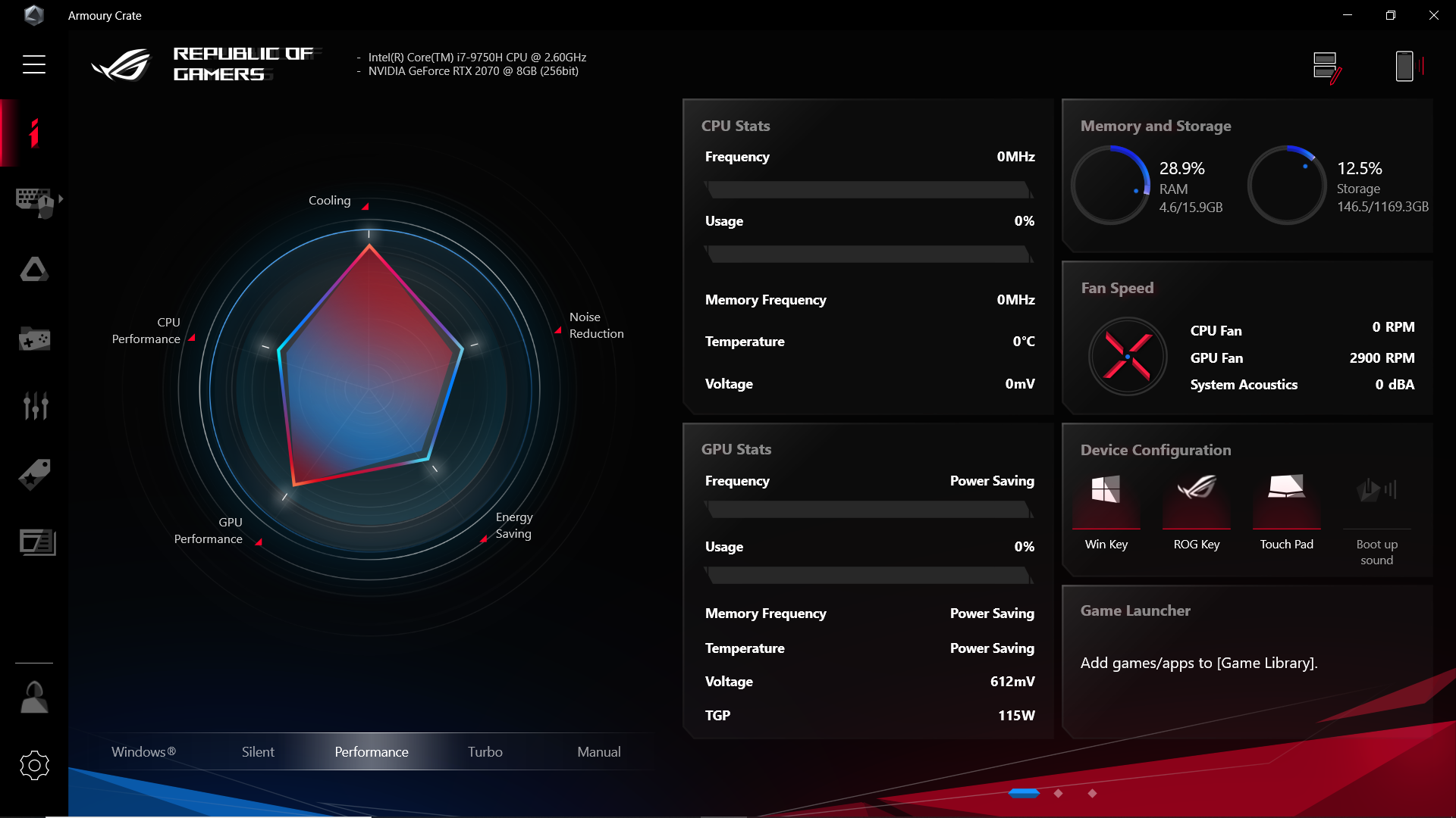 ASUS Armory Crate not showing CPU stats - Troubleshooting ...