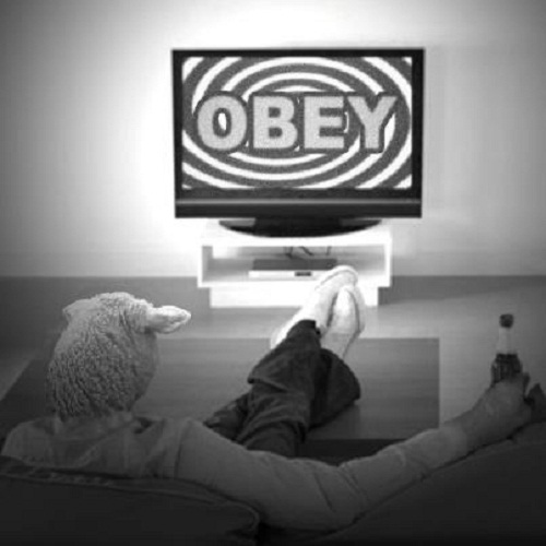 OBEY TV SHEEPLE PEOPLE | bob renner | Flickr